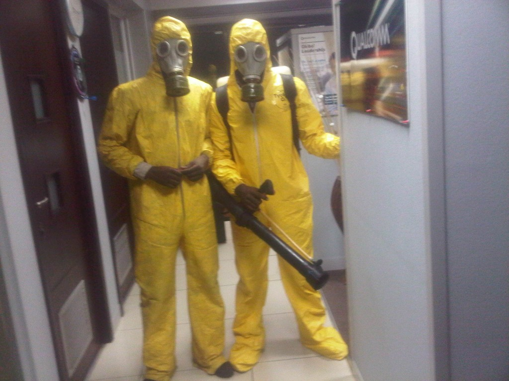 Fumigating a Office in Ikoyi
